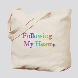 Following My Heart (Rainbow) Tote Bag