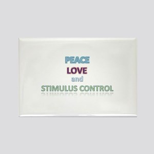 Peace, Love, Stimulus Control Rectangle Magnet