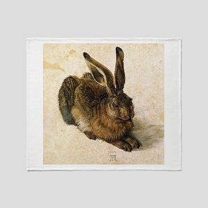 Albrecht Durer Young Hare Throw Blanket
