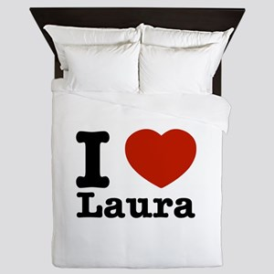 I Love Laura Queen Duvet