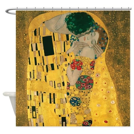 Gustav Klimt The Kiss (Detail) Shower Curtain