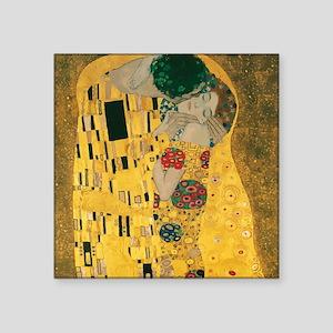 """Gustav Klimt The Kiss (Detail) Square Sticker 3"""" x"""
