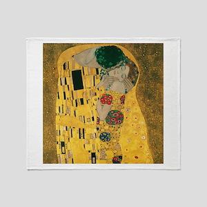 Gustav Klimt The Kiss (Detail) Throw Blanket