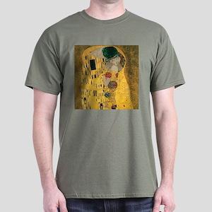 Gustav Klimt The Kiss (Detail) Dark T-Shirt