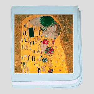 Gustav Klimt The Kiss (Detail) baby blanket