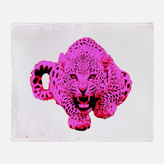 Pink Leopard Throw Blanket