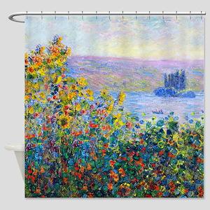Monet - Flower Beds Shower Curtain