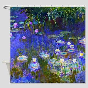 Monet - Water Lilies 1922 Shower Curtain