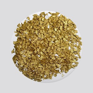 Gold Nuggets Round Ornament