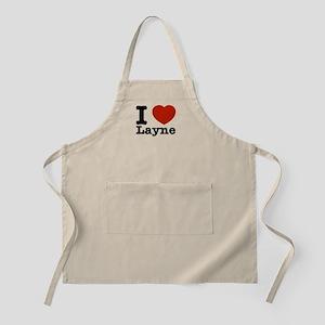 I Love Layne Apron