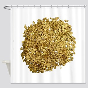 Gold Nuggets Shower Curtain