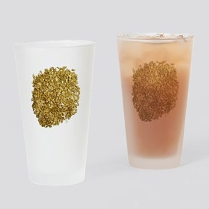 Gold Nuggets Drinking Glass