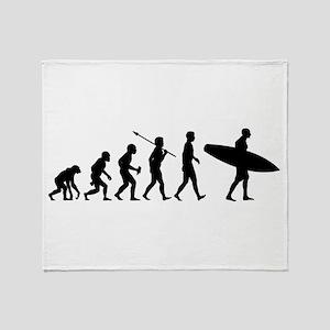 Surfing Throw Blanket