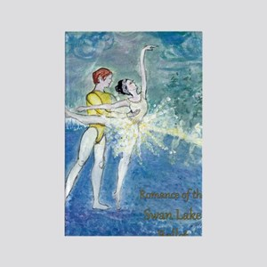 Swan Lake Ballet by Marie Loh Rectangle Magnet