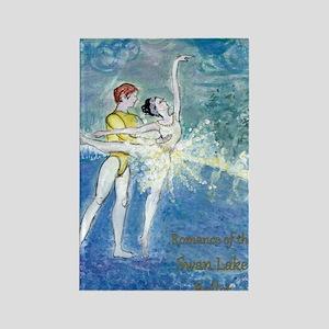 Swan Lake Ballet by Marie Loh Rectangle Magnet