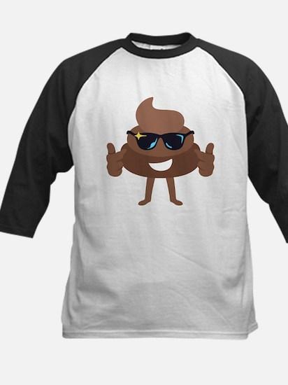 Poop Emoji Thumbs Up Baseball Jersey