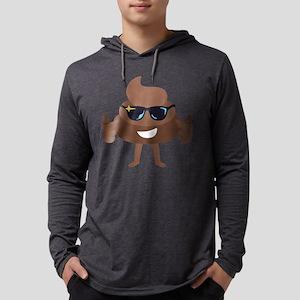 Poop Emoji Thumbs Up Mens Hooded Shirt