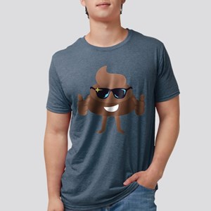 Poop Emoji Thumbs Up Mens Tri-blend T-Shirt