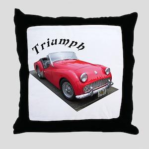 1961 Triumph Sportscar! Throw Pillow