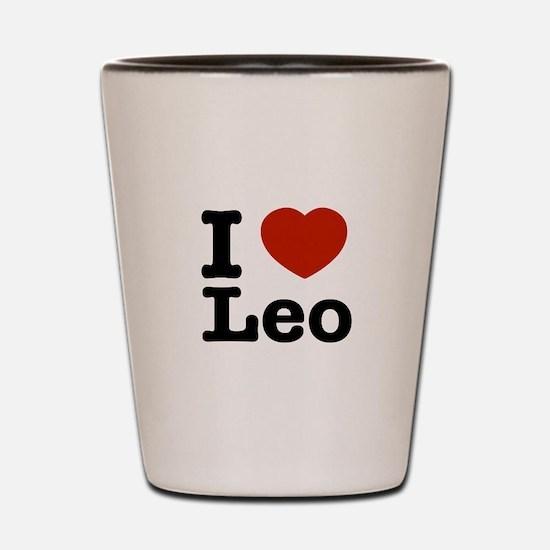 I Love Leo Shot Glass