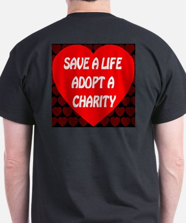 Save A Life Adopt A Charity T-Shirt