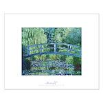 Monet's Japanese bridge, small poster