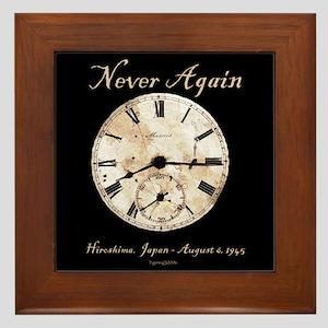 Hiroshima - Never Again Framed Tile