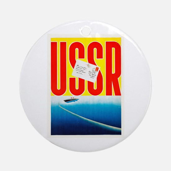 USSR Travel Poster 3 Ornament (Round)