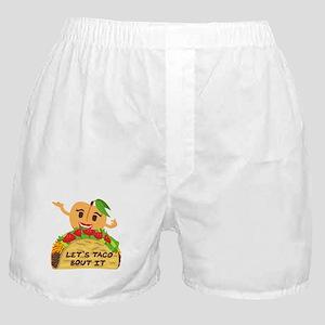 Emoji Taco Bout It Boxer Shorts