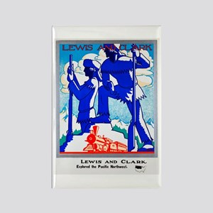 Pacific Northwest Travel Poster 1 Rectangle Magnet