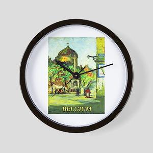 Belgium Travel Poster 1 Wall Clock