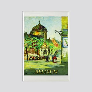 Belgium Travel Poster 1 Rectangle Magnet