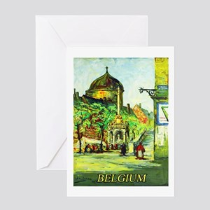 Belgium Travel Poster 1 Greeting Card