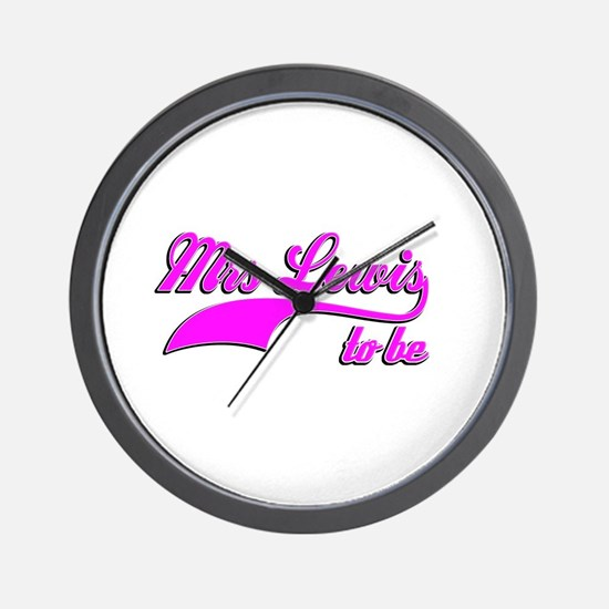 Mrs Lewis to be Wall Clock