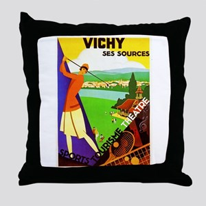 France Travel Poster 2 Throw Pillow