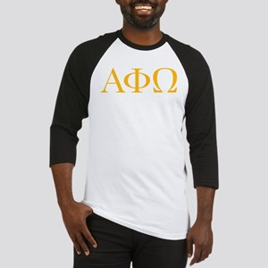 Alpha Phi Omega Letters Yellow Baseball Jersey