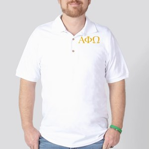 Alpha Phi Omega Letters Yellow Golf Shirt