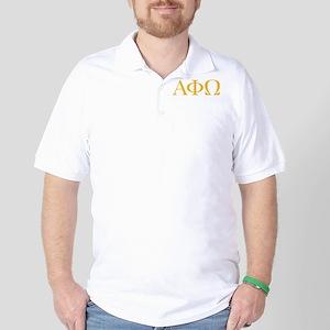 Alpha Phi Omega Letters Yellow Golf Shirt