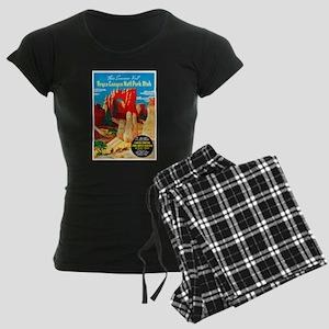 Utah Travel Poster 2 Women's Dark Pajamas