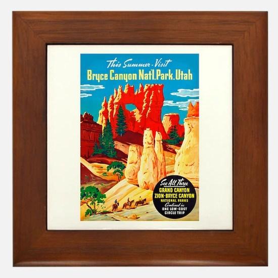 Utah Travel Poster 2 Framed Tile