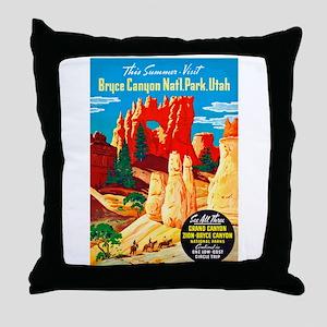 Utah Travel Poster 2 Throw Pillow