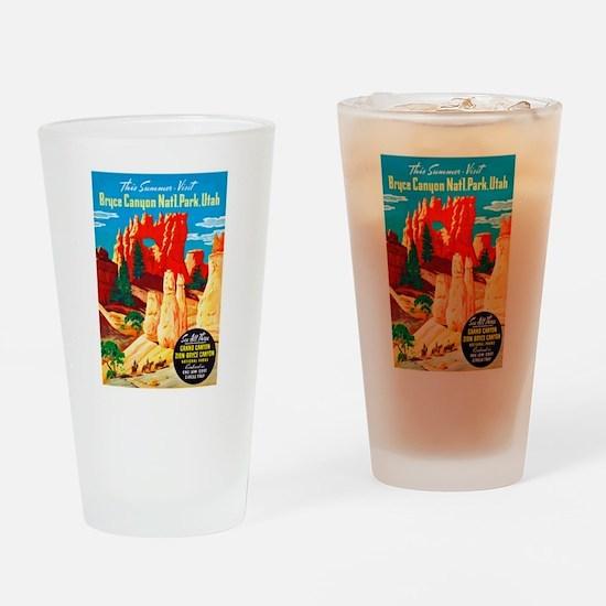 Utah Travel Poster 2 Drinking Glass