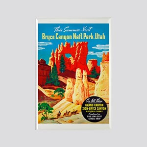 Utah Travel Poster 2 Rectangle Magnet