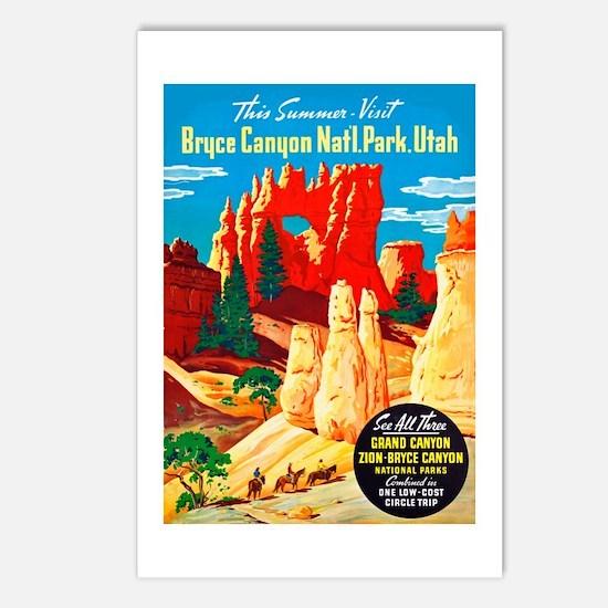 Utah Travel Poster 2 Postcards (Package of 8)