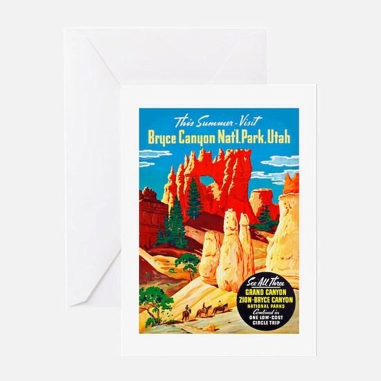 Utah Travel Poster 2 Greeting Card