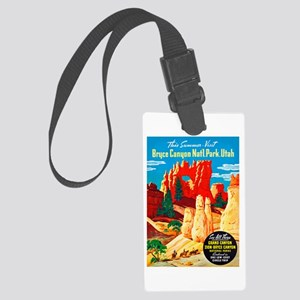 Utah Travel Poster 2 Large Luggage Tag