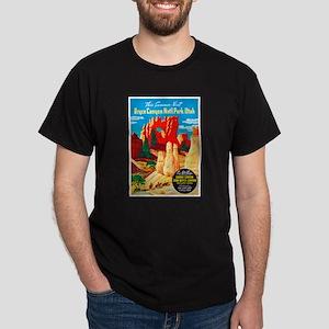 Utah Travel Poster 2 Dark T-Shirt
