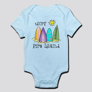 I Surf Fire Island Infant Bodysuit