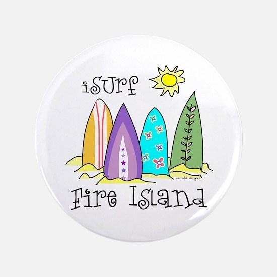 "I Surf Fire Island 3.5"" Button"