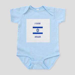 I love Israel Infant Creeper